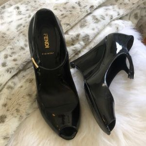 Fendi Wedges - Patent Leather
